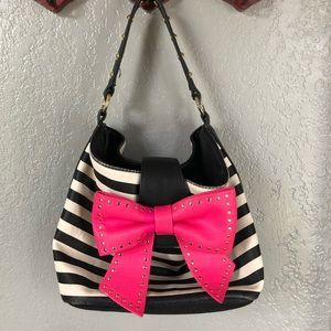 Betsey Johnson Pink Bow Bag